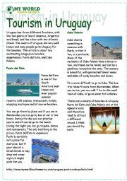 English Worksheet: Reading tourism in Uruguay