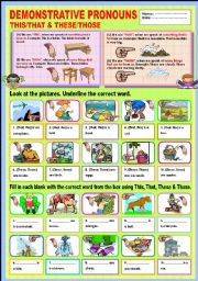 English Worksheet: Demonstrative Pronouns This/That & These/Those