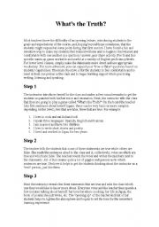 English Worksheets: Firtst Day Lesson