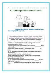 English Worksheet: Comprehension, ENGLISH for Adults
