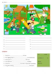 English Worksheet: FUN AND GAMES - PREPOSITIONS OF PLACE