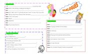 English Worksheets: QUESTION MAKING  in situations - PART 1