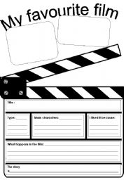 English Worksheet: My favourite film