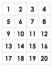 This is a picture of Bright Printable Numbers 1 20