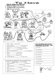 English Worksheets: To Have (positive,negative and yes/no questions)