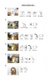 English Worksheet: How to make tea