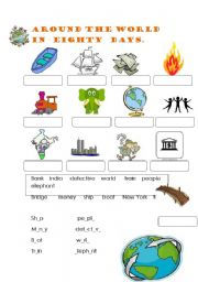 around the world in 80 days vocabulary