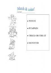 English Worksheets: Helloween