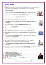 English Worksheet: Linking Words: Although / Despite / However / Providing / Unless, etc. For Adult Learners