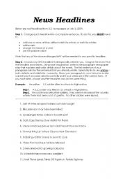 English Worksheet: Decoding News Headlines