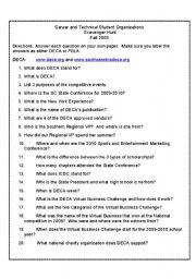 image regarding Printable Internet Scavenger Hunt named English worksheets: CTSO Scavenger Hunt