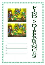 English Worksheets: Find differences between pictures