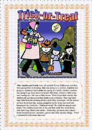 English Worksheets: Trick-Or-Treat