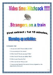 Video time _ STRANGERS ON A TRAIN by Alfred HITCHCOCK _ Extract #1 (33 tasks, 12 pages, KEY included)