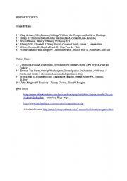 English Worksheets: Topics
