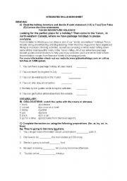 English Worksheets: Integrated Skills worksheet
