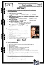 English worksheet: Mona Lisa Smile - Movie activity