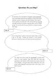 English Worksheets: Do You Blog?