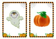 Halloween flashcards and word cards (1/4)