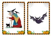 Halloween flashcards and word cards (2/4)
