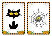 Halloween flashcards and word cards (3/4)