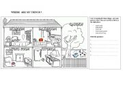 English Worksheets: Where is ... Where are ...?