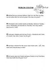 English Worksheets: Problem solving