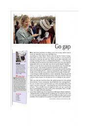 English Worksheet: Gap year