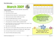 English Worksheets: march