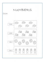 english worksheets identifying quantities numbers 1 5. Black Bedroom Furniture Sets. Home Design Ideas
