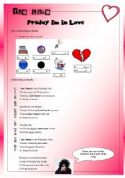 English Worksheet: Song  Friday, I´m in love - The Cure - Present simple/ Likes and dislikes  (Elementary and pre-intermediate)