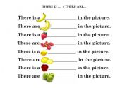 English Worksheets: There is/are...