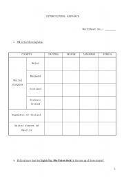 English Worksheets: Cultural approach