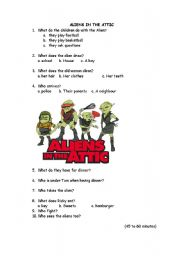 English Worksheets: aliens in the attic