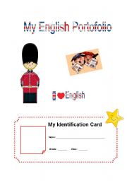 English Worksheets: Portolio cover for young students