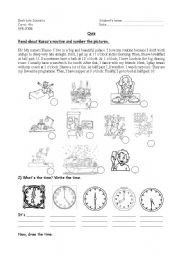 English Worksheets: Revision about routines