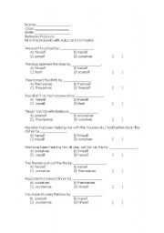 Reflexive and intensive pronouns worksheet pdf