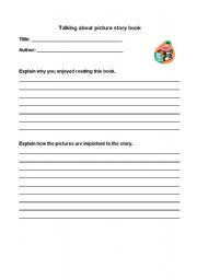 English Worksheets: Talking about piscture books
