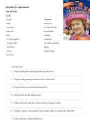 English Worksheets: keeping up appearance TV series lesson workseeht