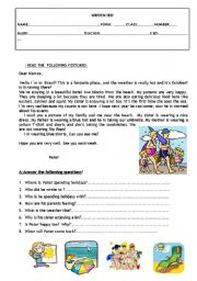 English Worksheet: TEST/WORKSHEET-8th-grade