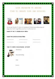 English Worksheets: EPISODE CREATING