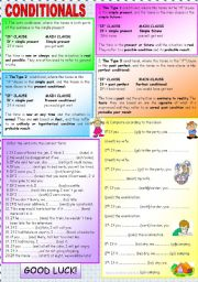 English Worksheets: CONDITIONALS