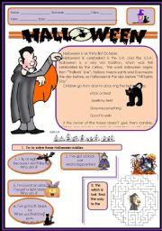 Halloween story, riddles