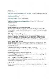 English Worksheets: Useful links