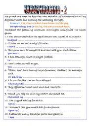 English Worksheet: Paraphrasing -2