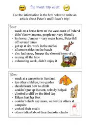 English Worksheets: The worst trip ever!