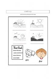 English Worksheets: First School day- GREETINGS