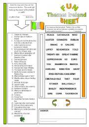 English Worksheet: Fun Sheet Theme: Ireland