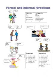 English worksheets greetings worksheets page 25 formal and informal greetings m4hsunfo