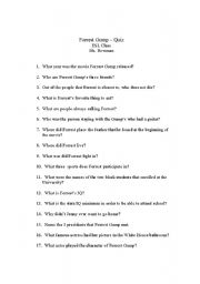 "forrest gump essay questions Forrest gump essay introduction: ""life is like a box of chocolates, you never know what one you're going to get"", this is found in the film forrest gump."